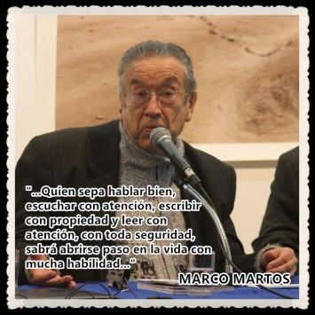 HABLAR, ESCUCHAR, ESCRIBIR, LEER. POR MARCO MARTOS
