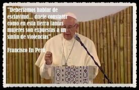 PAPA FRANCISCO CITAS Y FRASES EN EL PERÚ -PAPA JESUITA -COMPAÑÍA DE JESÚS - UNIDOS POR LA FE Y LA ESPERANZA (3)