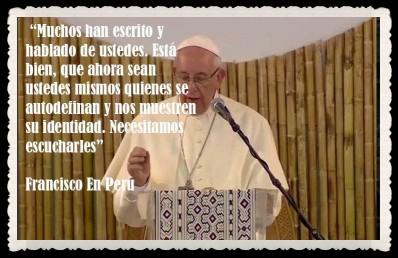 PAPA FRANCISCO CITAS Y FRASES EN EL PERÚ -PAPA JESUITA -COMPAÑÍA DE JESÚS - UNIDOS POR LA FE Y LA ESPERANZA (6)
