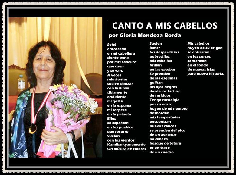 Canto A Mis Cabellos por Gloria Mendoza Borda