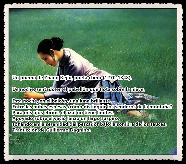 Un poema de Zhang Kejiu poeta chino 1270-1348
