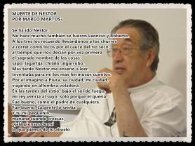 2 LA MUERTE DE NESTOR MARCO MARTOS CARRERA POETA PERUANO -POEMA A SU PADRE