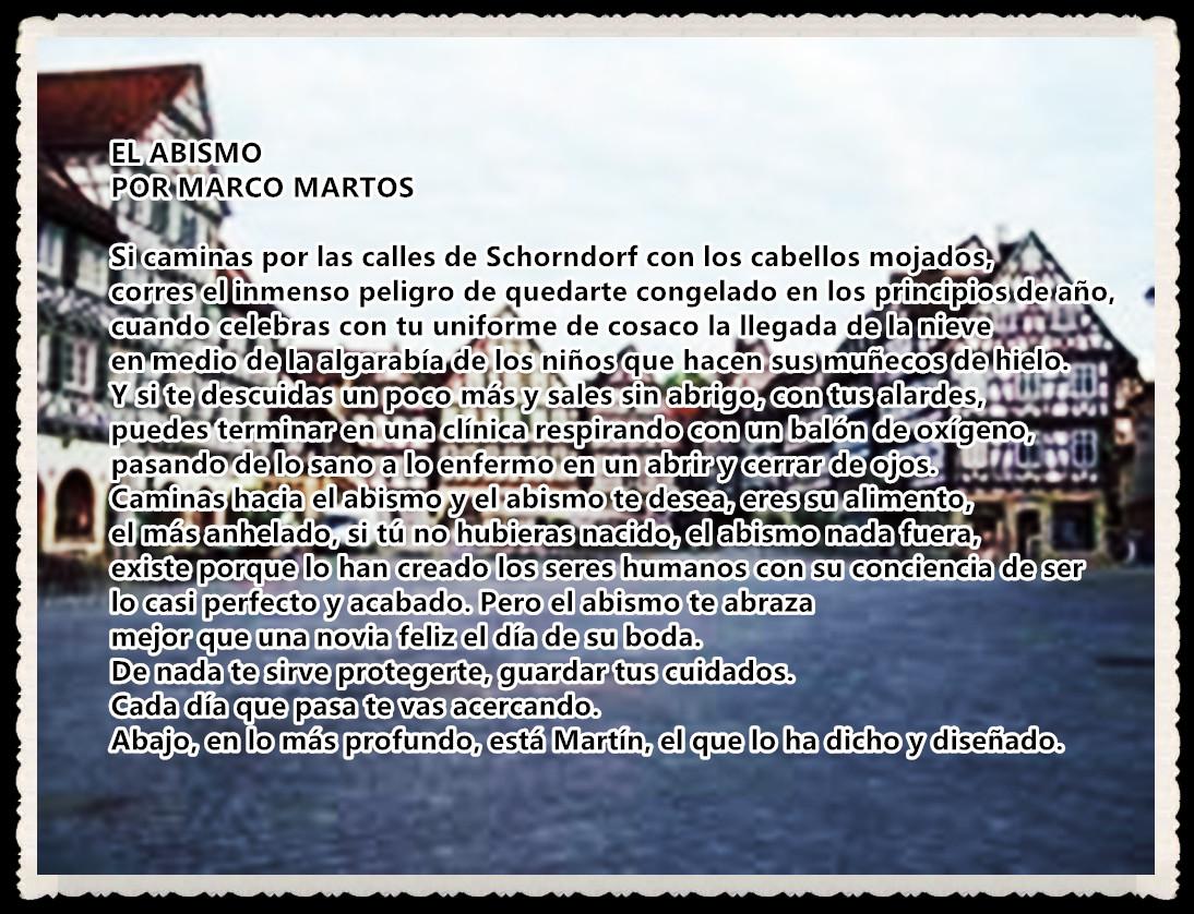 POEMA : EL ABISMO POR MARCO MARTOS