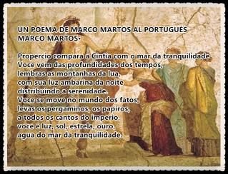 UN POEMA DE MARCO MARTOS AL PORTUGUÉS