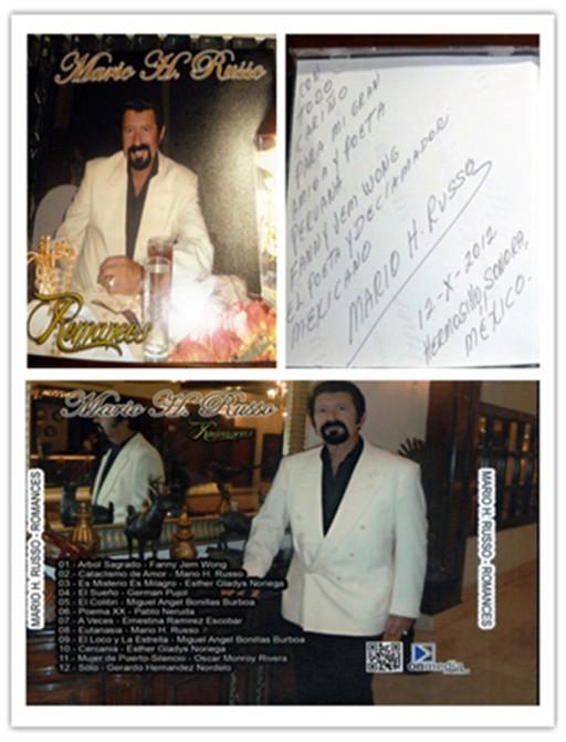 FANNY JEM WONG Como poeta invitado por Mario H. Russo ROMANCES Con el repertorio Árbol Sagrado 2012.