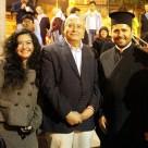 La reconocida poeta, Mg. en Psicología y docente en la Universidad César Vallejo (Filial Callao) Fanny Jem Wong, con el Embajador de Palestina, Walid Muaqqat