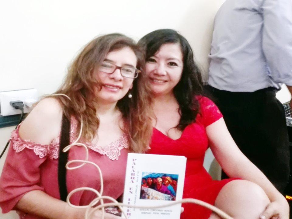 FANNY JEM WONG con FANNY PALACIOS IZQUIERDO Presidenta de la Asociación Amigos de José Carlos Mariátegui