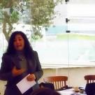 Fanny Jem Wong, Magister en Psicología ,docente universitaria y poeta , en el Palacio de Cristal del Club Árabe Palestino.