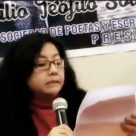 "Fanny Jem Wong, Magister en Psicología y docente en la Universidad César Vallejo (Filial Callao), y José Beltrán Peña, Presidente de la Sociedad Literaria Amantes del País, durante el ""IV Encuentro Internacional de Escritores - Julio Solórzano Murga"", realizado en la Universidad Nacional José Faustino Sánchez Carrión (Huacho)."