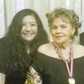 La reconocida poeta, Mg. en Psicología y docente en la Universidad César Vallejo (filial Callao), Fanny Jem Wong, con la escritora piurana, RUTH HURTADO ESPEJO, quien es Presidenta del Consejo Internacional de las Artes (CONSUART).
