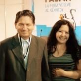 La reconocida poeta y Magister en Psicología, Fanny Jem Wong, actualmente docente en la Universidad César Vallejo - Filial Callao, con el mejor crítico literario del Perú, el Dr. Ricardo González Vigil, quien ha escrito en el diario El Comercio y en la actualidad en la Revista CARETAS.