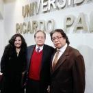 Mg. Fanny Jem Wong, con el peruanista norteamericano Richard Cacchione -Fundador del Instituto Bibliográfico del Perú-y José Beltrán Peña