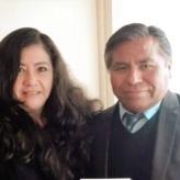 La reconocida poeta, Mg. en Psicología y docente en la Universidad César Vallejo (filial Callao), Fanny Jem Wong, con el escritor arequipeño, PORFIRIO MAMANI MACEDO, quien enseña en la Universidad de La Sorbona en Francia.