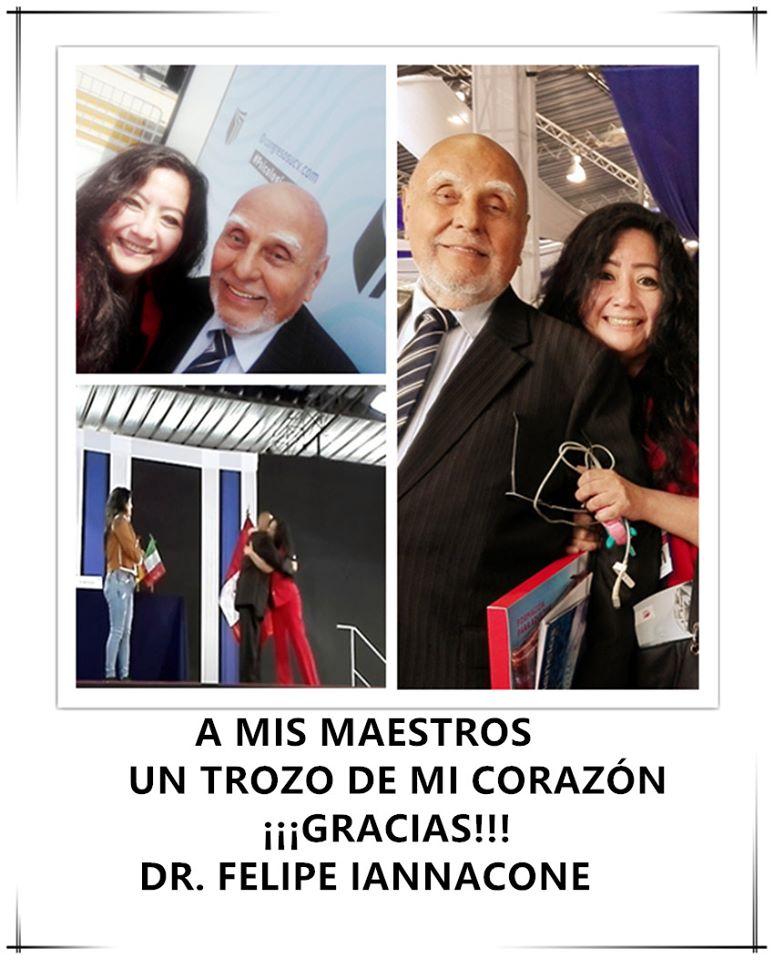 La Directora de Imagen de la Sociedad Literaria Amantes del País, la   poeta y Mg. en Psicología, FANNY JEM WONG, de la Universidad César   Vallejo (Filial Callao). DIA DE REENCUENTRO: ¡FELIZZZZZZZZZ!  en el VIII  Congreso Internacional  de Psicoterapia en la UNIVERSIDAD CESAR  VALLEJO, volví a ver a mi  maestro el Dr. Felipe Iannacone.